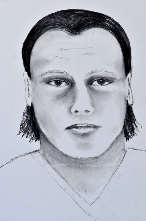 Description of . (John Valenzuela/Staff Photographer)  Redlands Police released a composite sketch of the murder suspect in the Sylvia Flores homicide case. Flores was a 23-year-old woman from Perris, CA. who's body was found in a orange groves near Citrus Plaza shopping center in Redlands.