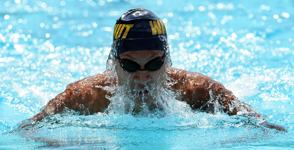 Description of . Walnut's Derek Kao competes in the 200 yard IM during the Division 2 CIF Southern Section Swimming Championships in the Riverside Aquatics Complex at Riverside City College in Riverside, Calif., on Saturday, May 17, 2014.
