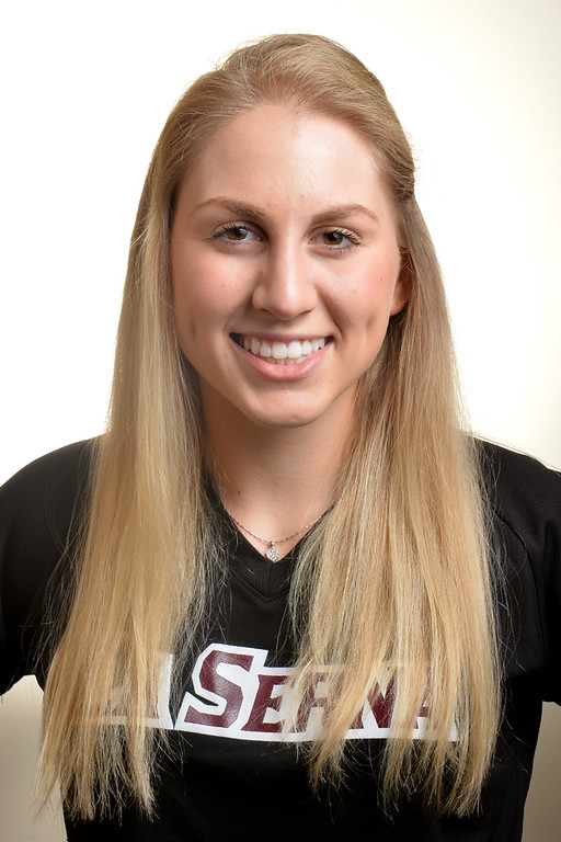 Description of . Molly Bourne from La Serna High School was selected to the Whittier Daily News All-Area Softball team on Tuesday June 10, 2014. (Photo by Keith Durflinger/Whittier Daily News)
