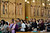 People gather for communion at mass at Cathedral of Our Lady of the Angels, Wednesday, March 13, 2013. (Michael Owen Baker/Staff Photographer)