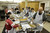 LONG BEACH, CALIF. USA -- Volunteers prepare Meals on Wheels food for delivery on February 19, 2013, in Long Beach, Calif. 