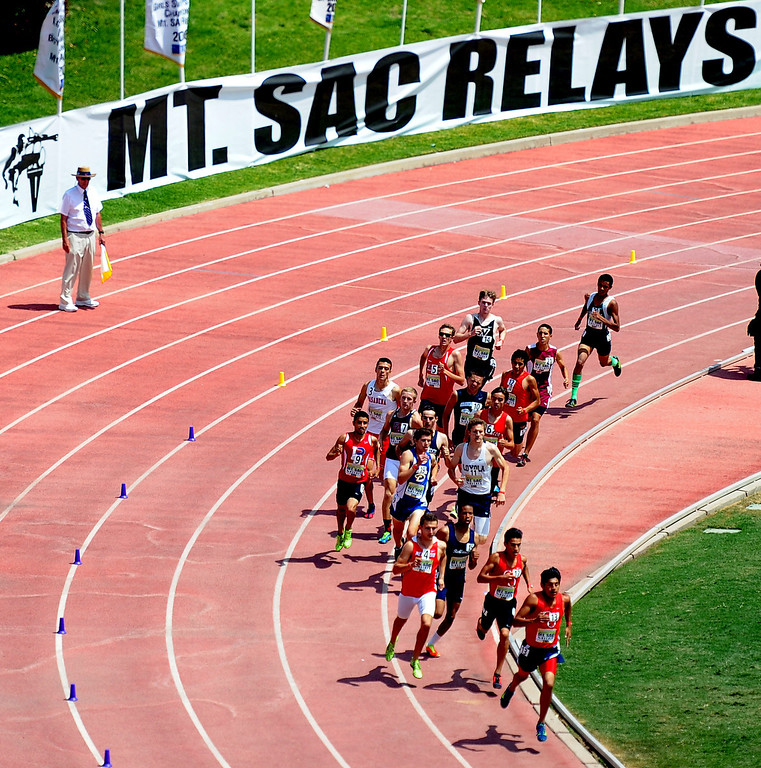 Description of . The Mt. SAC Relays in Hilmer Lodge Stadium on the campus of Mt. San Antonio College in Walnut, Calif., on Saturday, April 19, 2014. 