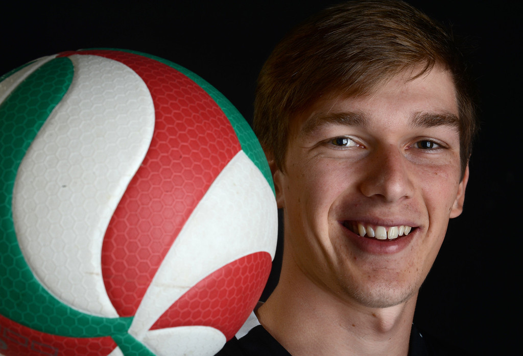 Description of . Stephen Zetterberg of Claremont High School has been named Player of the Year to The Sun and Inland Valley Daily Bulletin's All-Area boy's volleyball team. Jenn Maher staff photo.