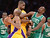 Lakers Kobe Bryant and Antawn Jamison battle Celtics' Jeff Green during first half action at Staples Wednesday.  Photo by David Crane/Staff Photographer