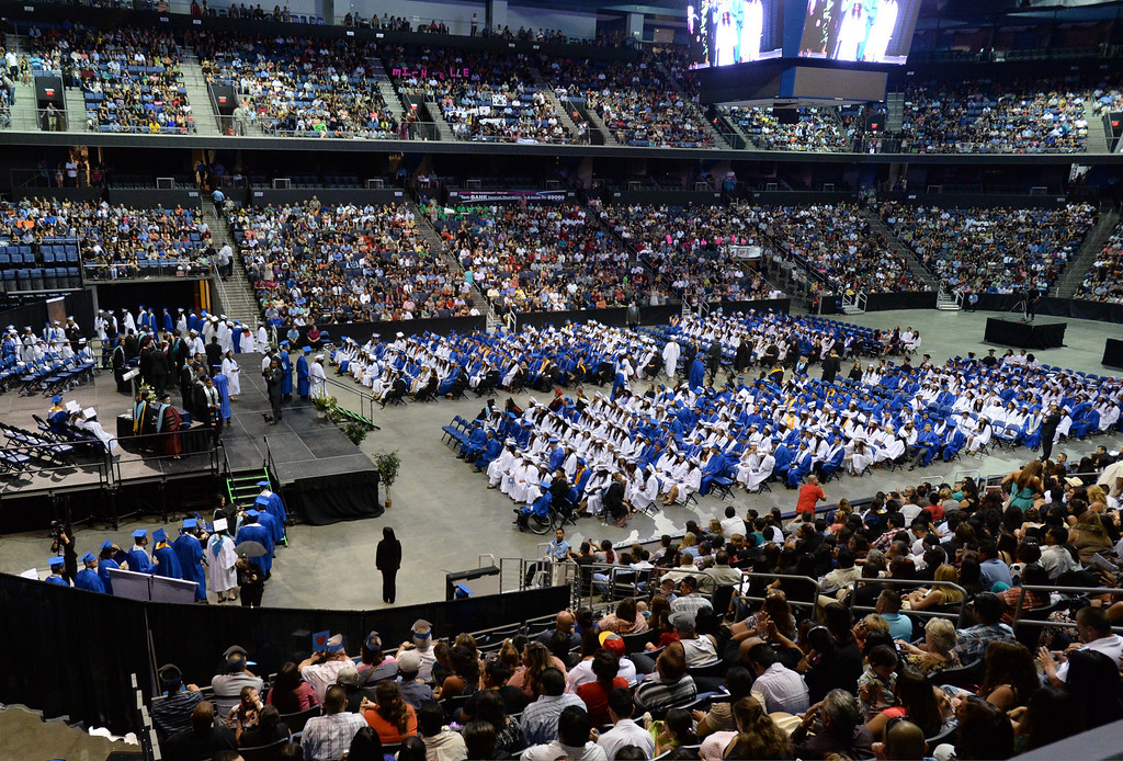 Description of . Rialto High School's 21st Commencement ceremony at Citizens Business Bank Arena in Ontario, Ca., Sunday June 1, 2014. (Photo by John Valenzuela/ Inland Valley Daily Bulletin)