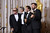 Jack Nicholson, George Clooney, Grant Heslov, and Ben Affleck, accepts the award for best picture for