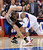 The Clippers' Chris Paul #3 draws the offensive foul on the Spurs' Manu Ginobili #20 during their game at the Staples Center in Los Angeles Friday, February  21, 2013. The Spurs beat the Clippers 116-90. (Hans Gutknecht/Staff Photographer)