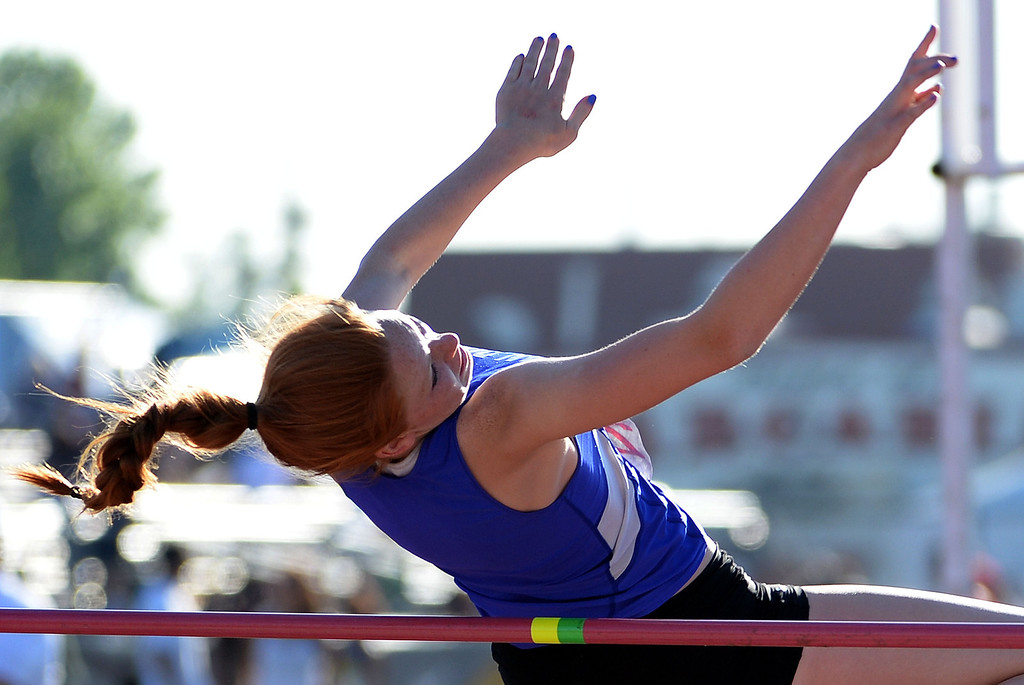 Description of . San Dimas' Hannah Nance competes in the high jump during the Arcadia Invitational track and field meet at Arcadia High School in Arcadia, Calif., on Friday, April 11, 2014.  (Keith Birmingham Pasadena Star-News)