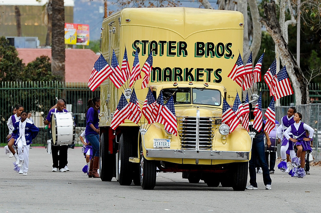 Description of . Southern California Black chamber of Commerce hosts the 44th annual Black History Parade at the National Orange show in San Bernardino on Saturday, Feb. 2, 2013. This year's theme marked tribute to the 50th anniversary of Dr. Martin Luther King Jr. speech,