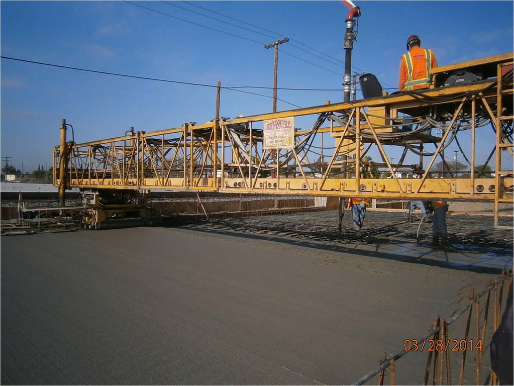 Description of . Steel structure before the concrete was poured for the Baldwin Avenue Railroad Bridge.