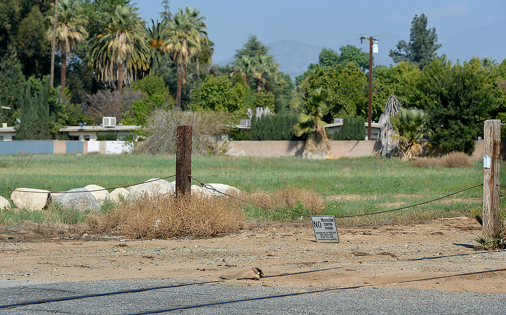 Description of . March 22, 2014 is the 37 year anniversary of the brutal rape and murder of Paula Hernandez, 15, who was nabbed as she walked past an orange grove, that once stood near this location along Grove Avenue, on her way home from Redlands High School in 1977. Her killer, John Zenc, is up for parole in May 22.  (Photo by Rick Sforza/Redlands Daily Facts)