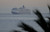 LONG BEACH, CALIF. USA -- The youngest Cunard Line ship, Queen Elizabeth, enters Long Beach (Calif.) Harbor on route to visit the Queen Mary on March 12, 2013. The Queen Mary was built by Cunard in 1936 and retired in 1967. The Queen Mary, now a permanently berthed, is a hotel and special events venue. The two ships exchanged whistle blows.  