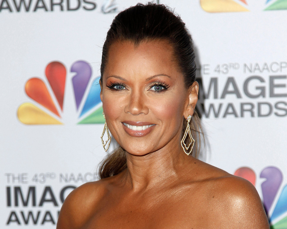 Description of . FILE - This Feb. 17, 2012 file photo shows actress-singer Vanessa Williams arriving at the 43rd NAACP Image Awards in Los Angeles. On Friday, July 6, Williams will talk about her relationship with her mom, Helen, during one of a series of panel discussions at the Ernest N. Morial Convention Center about family, love and relationships during the Essence Music Festival running through Sunday in New Orleans. (AP Photo/Matt Sayles, file)