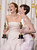 Oscar winners Jennifer Lawrence and Anne Hathaway backstage at the 85th Academy Awards at the Dolby Theatre in Los Angeles, California on Sunday Feb. 24, 2013 ( David Crane, staff photographer)