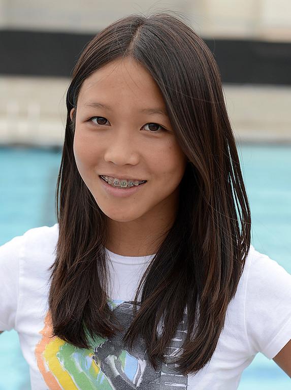 Description of . Kenisha Liu has been named to The Sun's All-Area Swim Team. Liu is a freshman at Ayala High School. Thomas Cordova staff photographer The Sun.