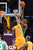 Celtics' Jeff Green keeps Lakers' Earl Clark at bay as he shoots for two points during second half action at Staples Wednesday. Lakers defeated the Celtics 113-99.  Photo by David Crane/Staff Photographer