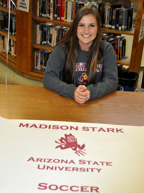 Description of . Claremont soccer player Madison Stark signing with Arizona State (Courtesy Photo)