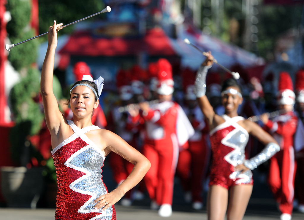 Description of . Centennial High School band performs during the Diamond Bar community parade during the 91st Annual L.A. County Fair in Pomona, Calif. on Thursday, Sept. 5, 2013.   (Photo by Keith Birmingham/Pasadena Star-News)