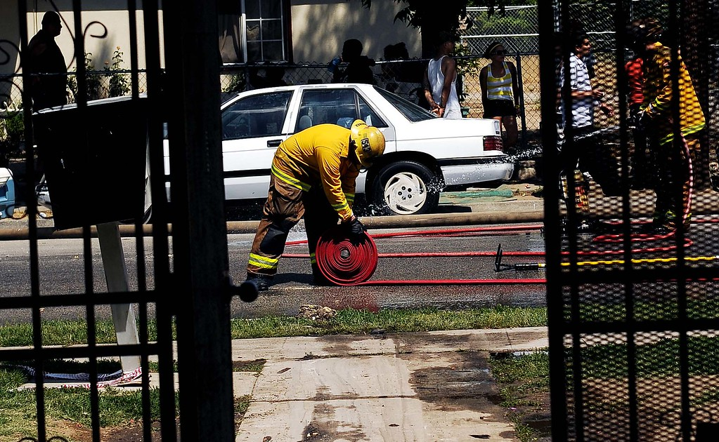 Description of . A mid-morning fire displaced 72 residents and damaged seven apartments Sunday.The apartment building was red tagged after the fire damaged 25 percent of the 16-unit complex in the 7400 block of Elm Street.
