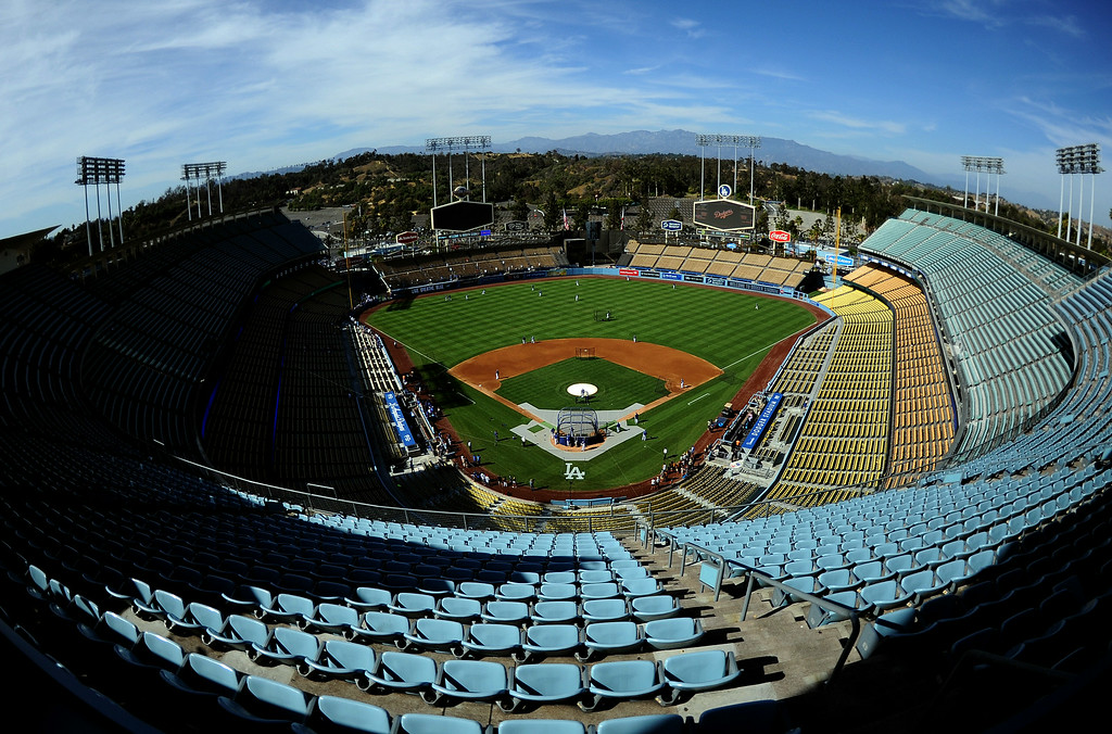 Description of . A empty stadium prior to a Major league baseball game between the San Diego Padres and the Los Angeles Dodgers on Saturday, July 12, 2014 in Los Angeles.   (Keith Birmingham/Pasadena Star-News)
