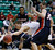 Arizona's Kaleb Tarczewski, center, grabs the ball as Belmont's Blake Jenkins, left, and Trevor Noack look on during the first half of a second-round game in the NCAA college basketball tournament in Salt Lake City Thursday, March 21, 2013. (AP Photo/George Frey)