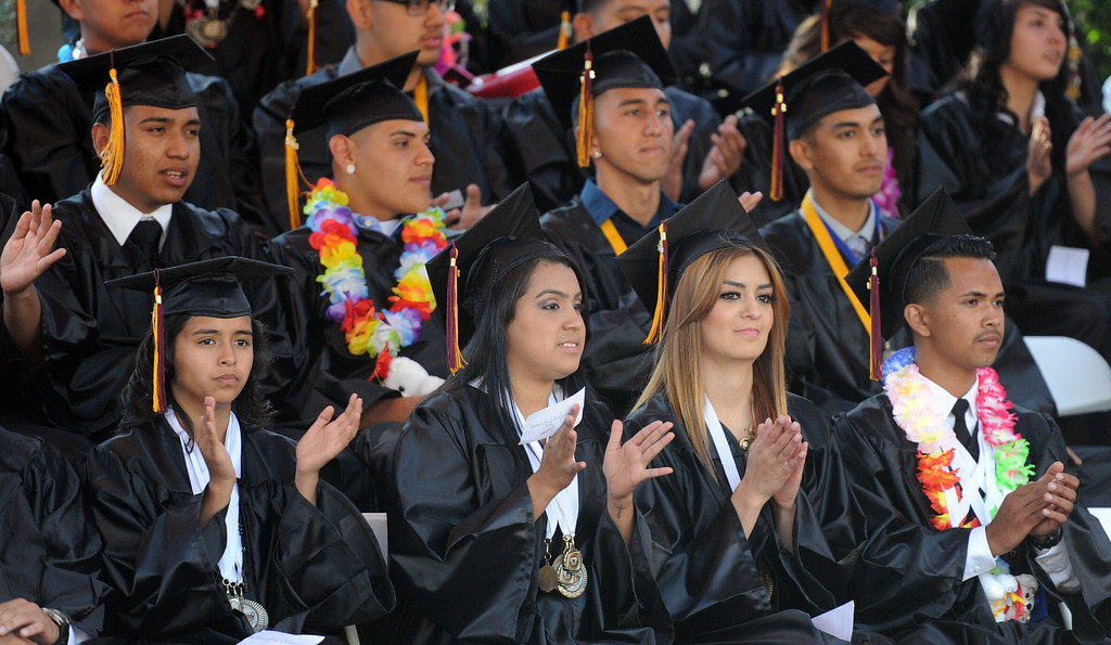 Description of . The Vail High School commencement at Vail High School on Tuesday, June 18, 2013 in Montebello, Calif.