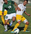 2/13/13 - L-R Andrew Perez of Narbonne  High School battles for the ball against  Marco Ramirez of Kennedy during the L.A. City Section Division I playoffs. Narbonne won 1-0. Photo by Brittany Murray / Staff Photographer