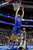 Florida Gulf Coast's Chase Fieler dunks against Georgetown's Jabril Trawick during the second half of a second-round game of the NCAA college basketball tournament on Friday, March 22, 2013, in Philadelphia. (AP Photo/Matt Rourke)