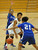 02-23-2012--(LANG Staff Photo by Sean Hiller)- Narbonne beat El Camino Real 47-39 in Saturday's L.A. City Section Division I semifinal girls basketball game. El Camino's Sukari Richardson (4) and Delaney Thomas (21) guard Narbonne's TyBriann Jones (15).