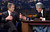 Republican presidential candidate Texas Gov. George W. Bush talks to Jay Leno during an appearance on