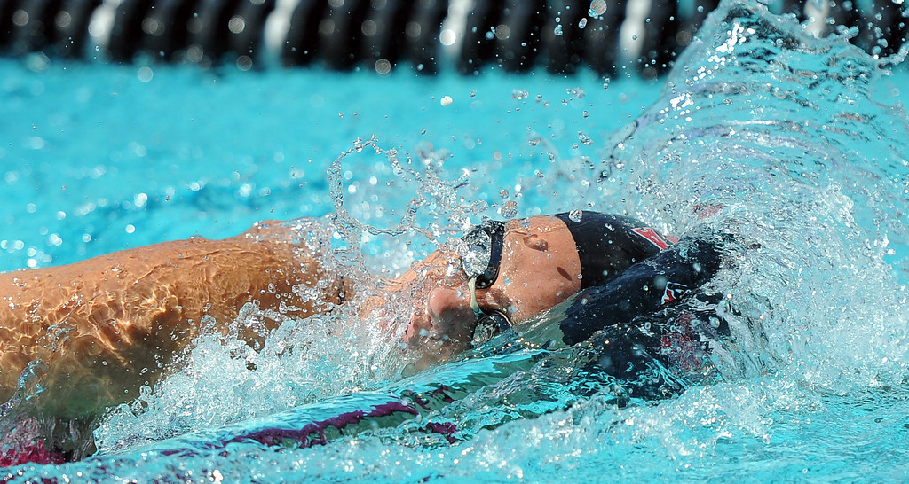 Description of . Pasadena's Victoria Lepesant finished in 8th place in the 200 yard freestyle during the CIF-SS Division II swim finals at Riverside City College on Saturday, May 11, 2013 in Riverside, Calif.  (Keith Birmingham Pasadena Star-News)