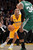 Lakers Kobe Bryant looks past Celtics' Paul Pierce during second half action at Staples Wednesday. Lakers defeated the Celtics 113-99.  Photo by David Crane/Staff Photographer