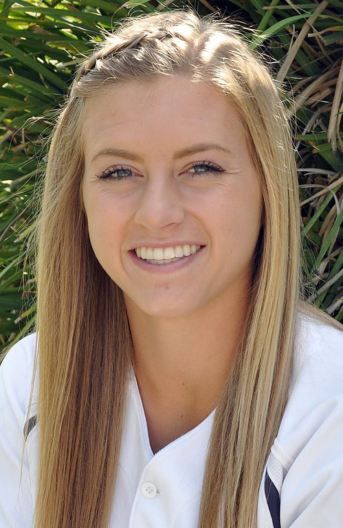 Description of . Krista Mann has been named to the Inland Valley Daily Bulletin's All-Area softball team. Mann is a senior at Los Osos High School. Courtesy photo to the Inland Valley Daily Bulletin.