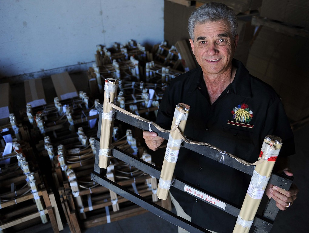 Description of . President and CEO  Jim Souza, of Pyro Spectaculars Inc. in Rialto .LaFonzo Carter/ Staff Photographer