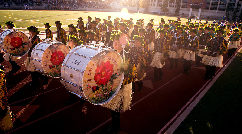 Description of . The Hawaii All-state Marching Band