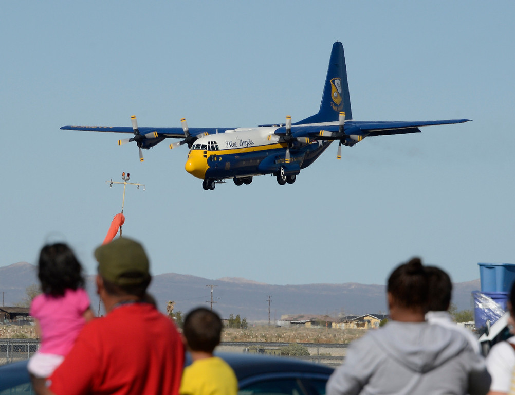 Description of . March 19,2014. Lancaster CA. The US Navy Blue Angels