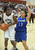 02-23-2012--(LANG Staff Photo by Sean Hiller)- Narbonne beat El Camino Real 47-39 in Saturday's L.A. City Section Division I semifinal girls basketball game. Narbonne's Lauryn Catching (10) moves in on El Camino's Lindsey Rodriguez (13).