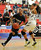 Sierra #25Jorden Sneed drives around Horizon #24 Sierra Smith. Sierra Canyon defeated Horizon Christian 63-62 to win the Girls Division V Regional Finals. Ontario, CA 3/16/2013(John McCoy/Staff Photographer)