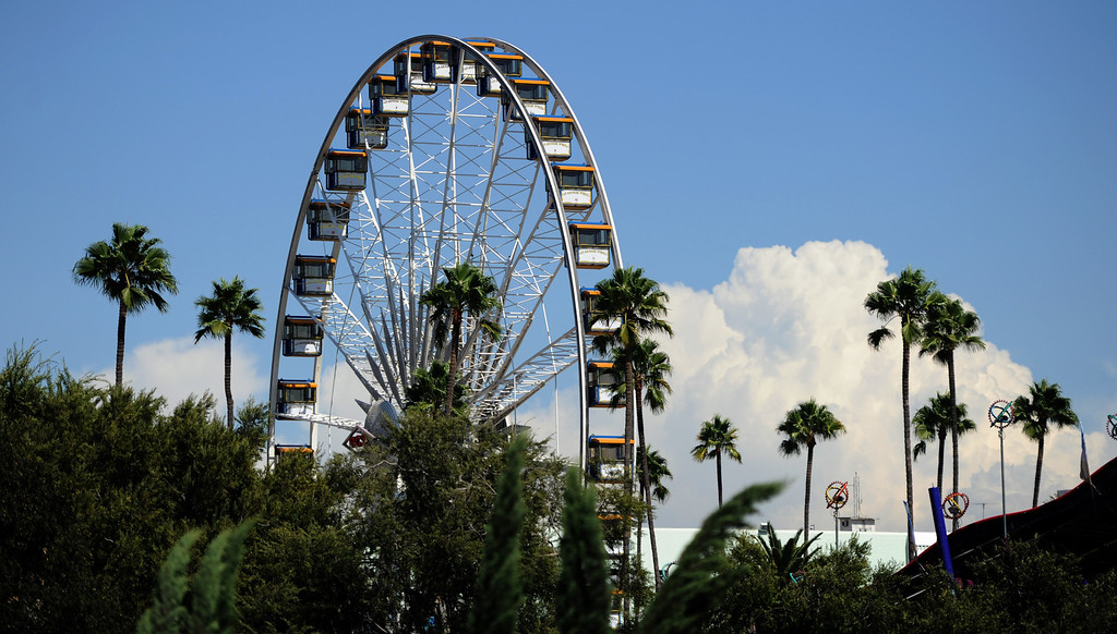 Description of . the ferris wheel turns during the 91st Annual L.A. County Fair in Pomona, Calif. on Thursday, Sept. 5, 2013.   (Photo by Keith Birmingham/Pasadena Star-News)