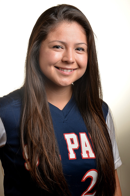 Description of . Lovie Lopez from St. Paul High School was selected to the Whittier Daily News All-Area Softball team on Tuesday June 10, 2014. (Photo by Keith Durflinger/Whittier Daily News)