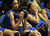 Bishop Amat's Paulina Santana (#21), left, and Mauriana Clayton (#23), right, react after their loss to Canyon Springs in the CIF-SS Division 1A girls basketball finals at the Anaheim Arena on Friday February 28, 2013. Canyon Springs beat Bishop Amat 48-46. (SGVN/Staff Photo by Keith Durflinger)
