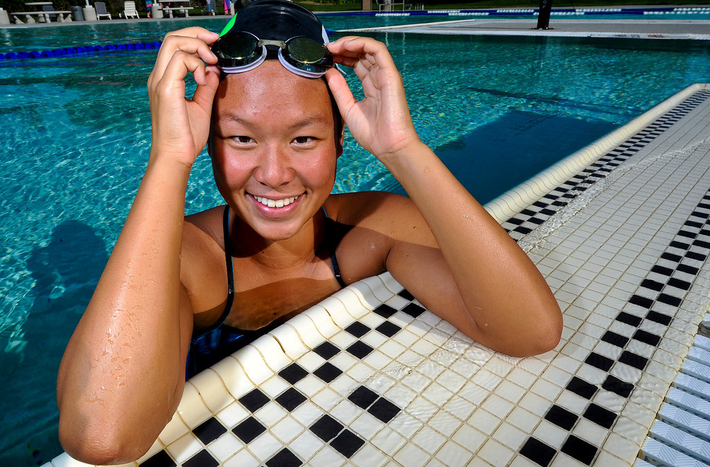 Description of . Sonia Wang has been named Player of the Year to the Inland Valley Daily Bulletin's All-Area Swim Team. Wang is a sophomore at Upland High School. Rachel Luna staff photographer The Sun.