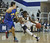 LAKEWOOD, CALIF. USA -- Mayfair's Michael Nwabuzor (3) tries to get past  La Mirada's Jarrett Davis (2) in Lakewood, Calif., on February 8, 2013. Mayfair defeated La Mirada 60 to 59. Photo by Jeff Gritchen / Los Angeles Newspaper Group