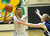 02-19-2012--(LANG Staff Photo by Sean Hiller)- Mayfair at Poly in the second round of the Division I-AA boys basketball playoffs Tuesday night. Artis Parris looks to pass.