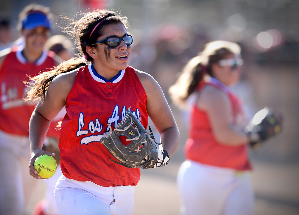 Description of . Los Altos defeats West Covina 4 to 3 Thursday, May 15, 2014 at West Covina High School. (Photo by Sarah Reingewirtz/Pasadena Star-News)