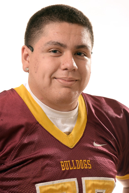 Description of . Chris Fernandez from West Covina High School was selected to the San Gabriel Valley Tribune All-Area football team on Wednesday December 18, 2013.  (Staff Photo by Keith Durflinger/San Gabriel Valley Tribune)