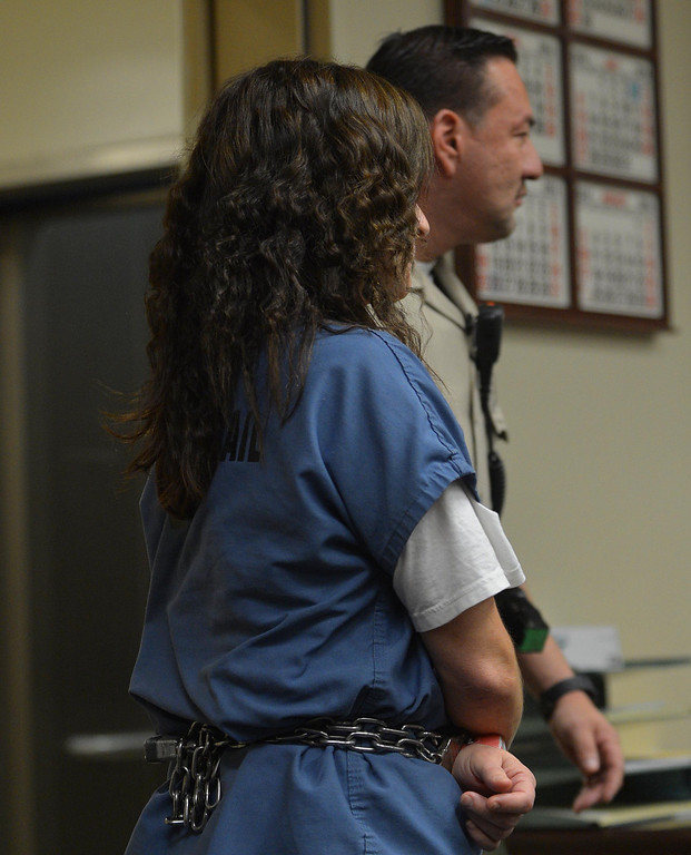 Description of . Andrea Cardosa, 40, a former teacher accused of molesting a student  was arraigned today at the Riverside Superior Court  on Friday, March 7, 2014 in Riverside. The arraignment was postponed until April 18, 2014.Photo by LaFonzo Carter/The Sun