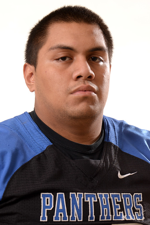 Description of . Kammy Delp from Diamond Ranch High School was selected to the San Gabriel Valley Tribune All-Area football team on Wednesday December 18, 2013.  (Staff Photo by Keith Durflinger/San Gabriel Valley Tribune)