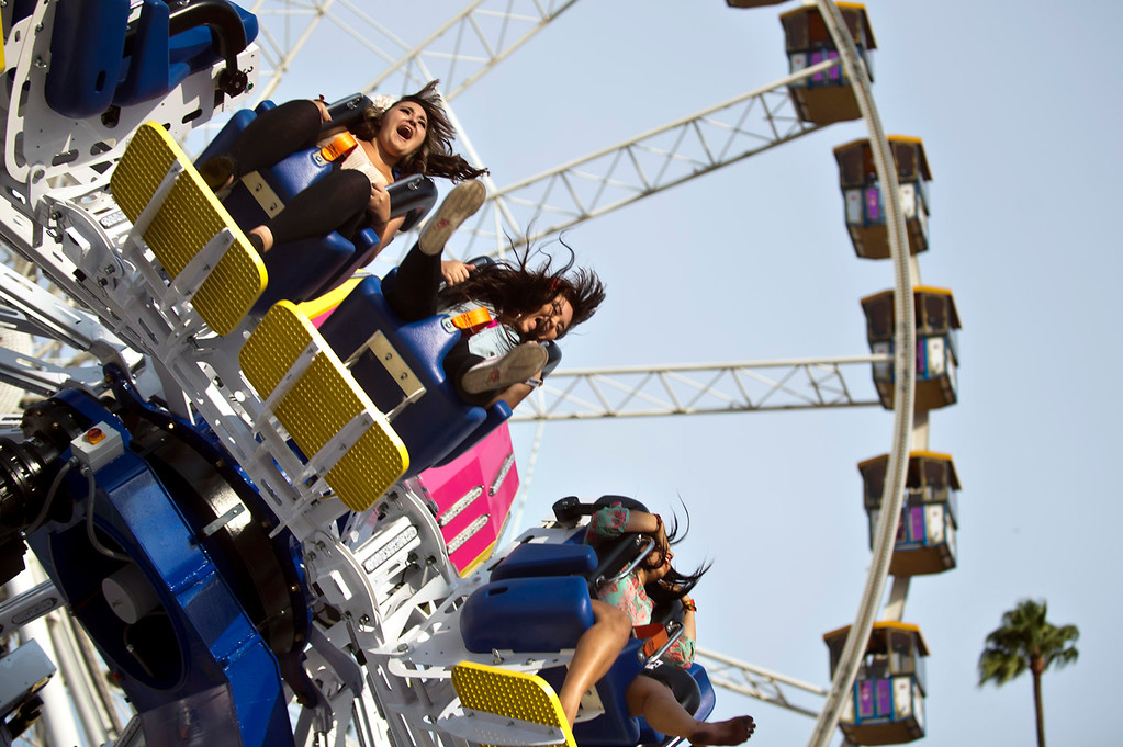 Description of . Freestyle the ride during the opening day of L.A. County Fair in Pomona on Friday, Aug. 30, 2013. (Staff photo by Watchara Phomicinda/ San Gabriel Valley Tribune)