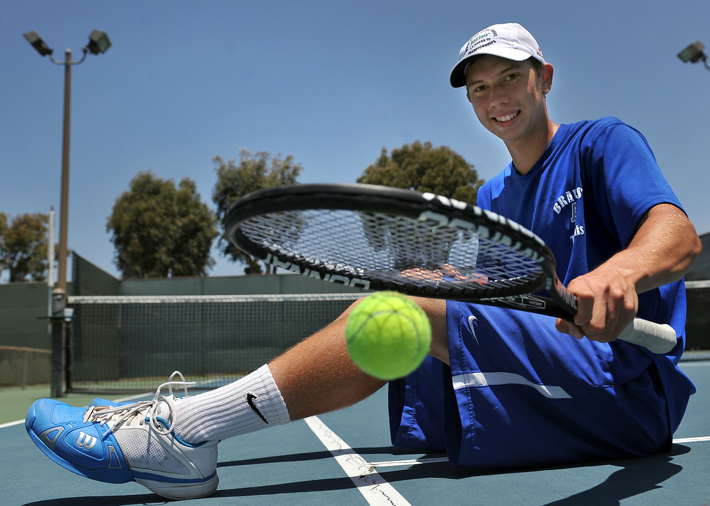 Description of . Victor Brown of Alta Loma High School has been named Athlete of the Year to The Sun and Inland Valley Daily Bulletin's All-Area tennis team. Brittany Murray staff photo Inland Valley Daily Bulletin.